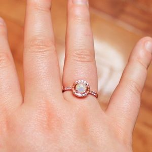 Rose Gold & Opal Costume Jewelry Ring
